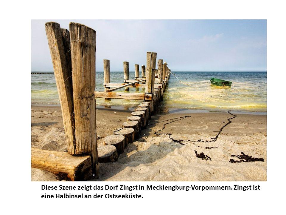 Diese Szene zeigt das Dorf Zingst in Mecklengburg-Vorpommern.