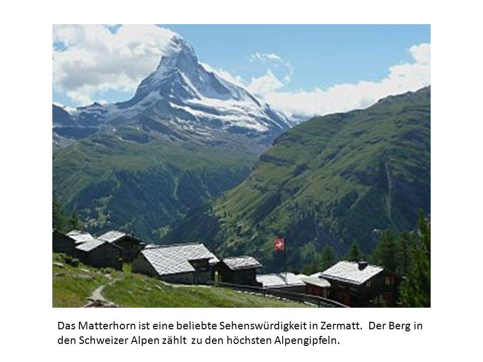 Das Matterhorn ist eine beliebte Sehenswürdigkeit in Zermatt.