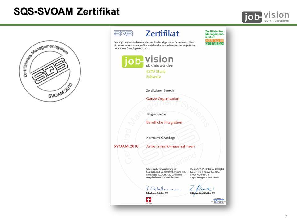 © job-vision 2008 - 2014 SQS-SVOAM Zertifikat 7