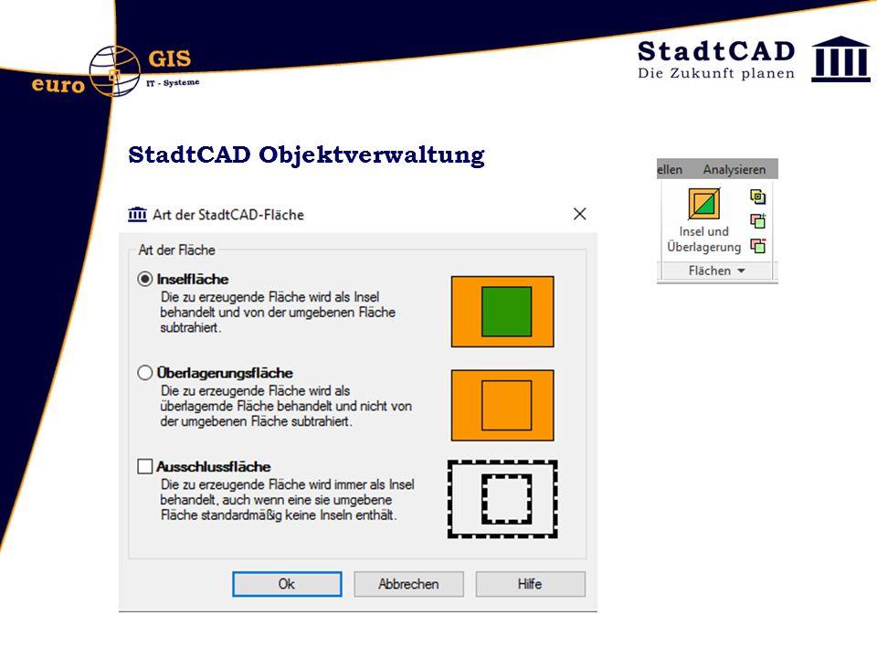 StadtCAD Objektverwaltung