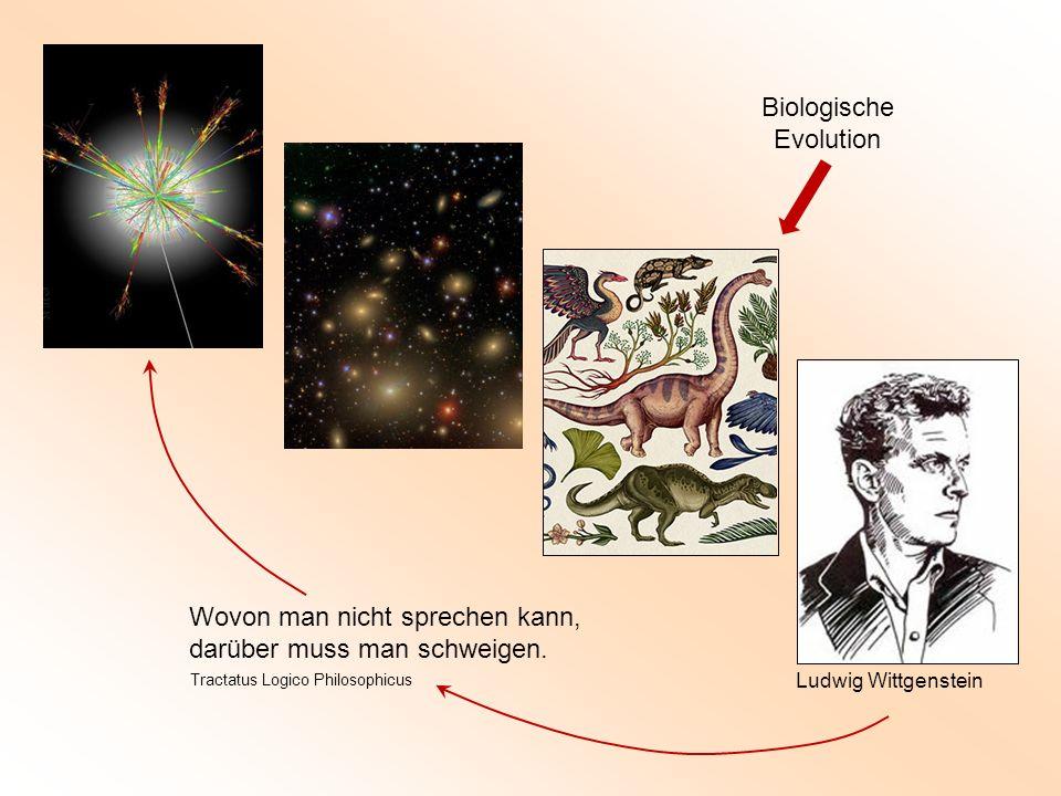 Ludwig Wittgenstein Wovon man nicht sprechen kann, darüber muss man schweigen. Tractatus Logico Philosophicus Biologische Evolution