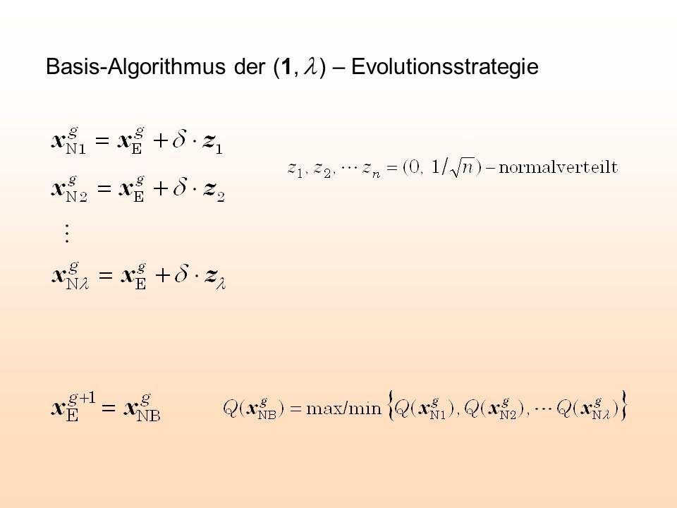 Basis-Algorithmus der (1,  ) – Evolutionsstrategie