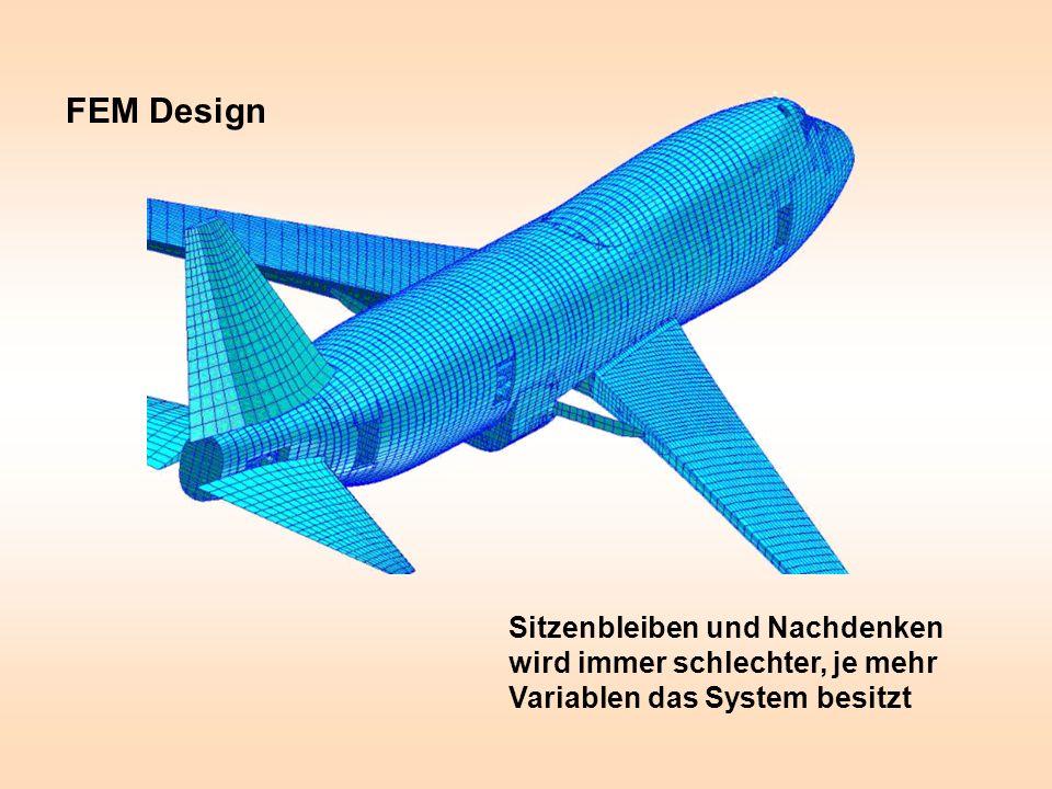 Sitzenbleiben und Nachdenken wird immer schlechter, je mehr Variablen das System besitzt FEM Design