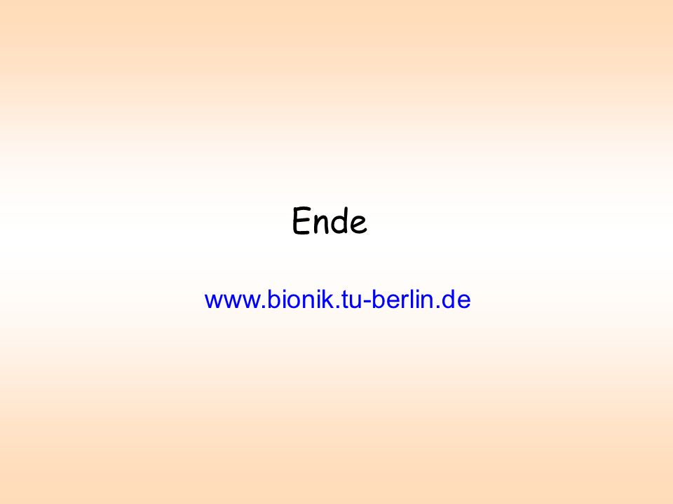 Ende www.bionik.tu-berlin.de