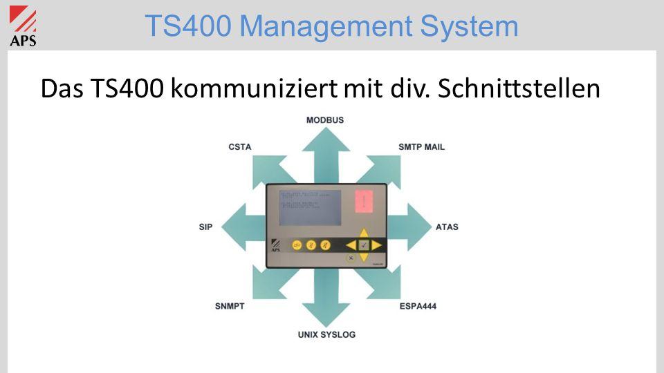TS400 Management System TS400 Applikation: Kraftwerke/Unterstationen