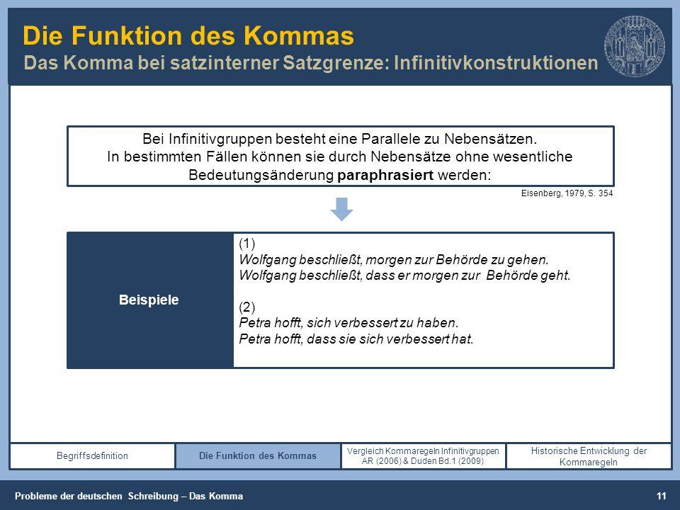 Die Funktion des Kommas Das Komma bei satzinterner Satzgrenze: Infinitivkonstruktionen Begriffsdefinition (Cooper, 2013, S.