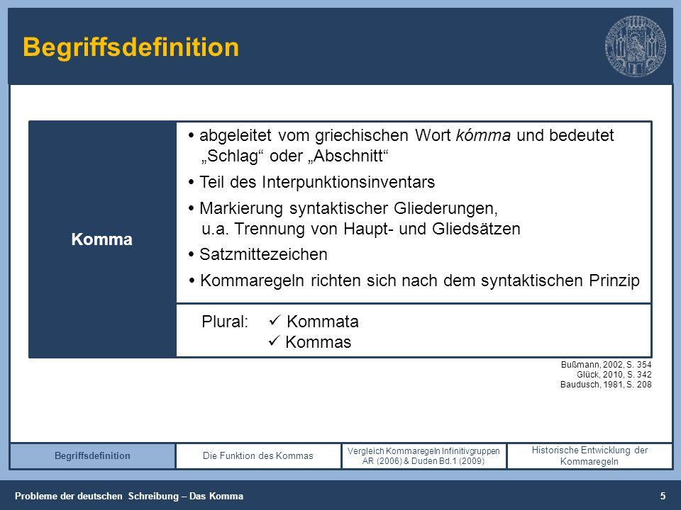 """Begriffsdefinition (Cooper, 2013, S. 26-28) Komma  abgeleitet vom griechischen Wort kómma und bedeutet """"Schlag"""" oder """"Abschnitt""""  Teil des Interpunk"""