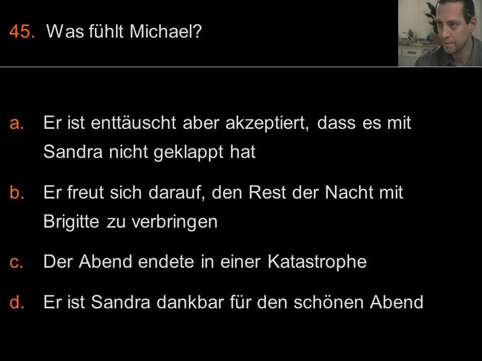 45. Was fühlt Michael.