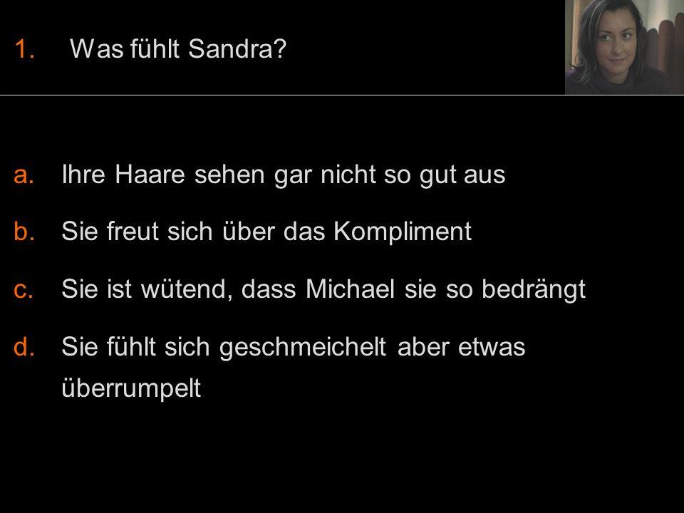 1.Was fühlt Sandra.