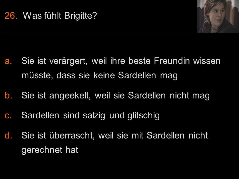 26. Was fühlt Brigitte.