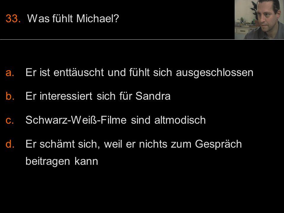 33. Was fühlt Michael.