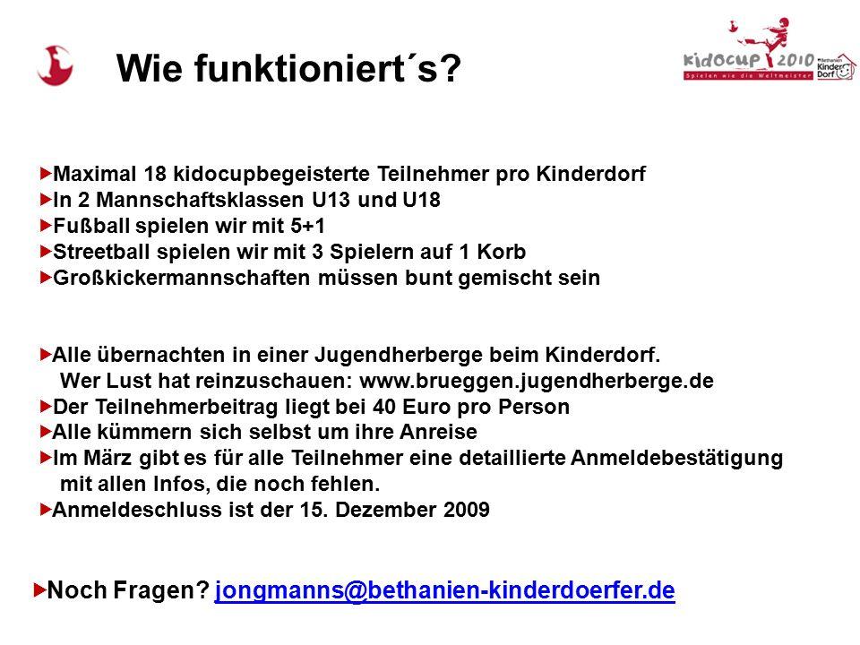  Dabei sein?  Spaß haben?  Fußball spielen?  Andere Kinderdörfer kennen lernen? 40 Kinderdörfer in Deutschland sind eingeladen. Zum Fußball. Zum M