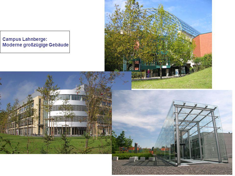 Campus Lahnberge: Moderne großzügige Gebäude