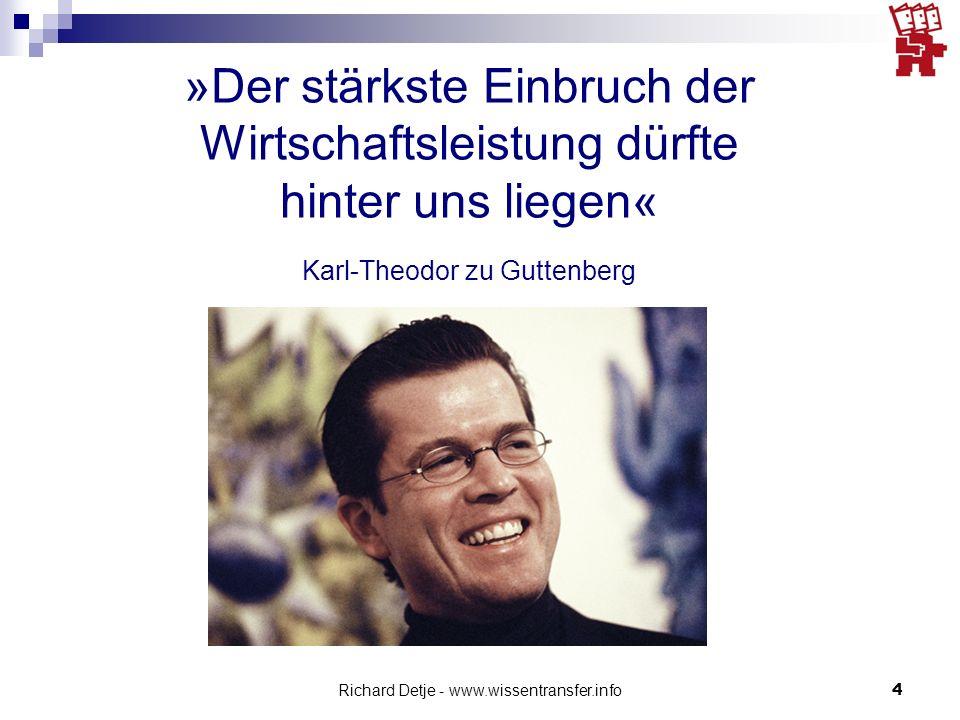 Richard Detje - www.wissentransfer.info15 Die Krise begann vor 30 Jahren