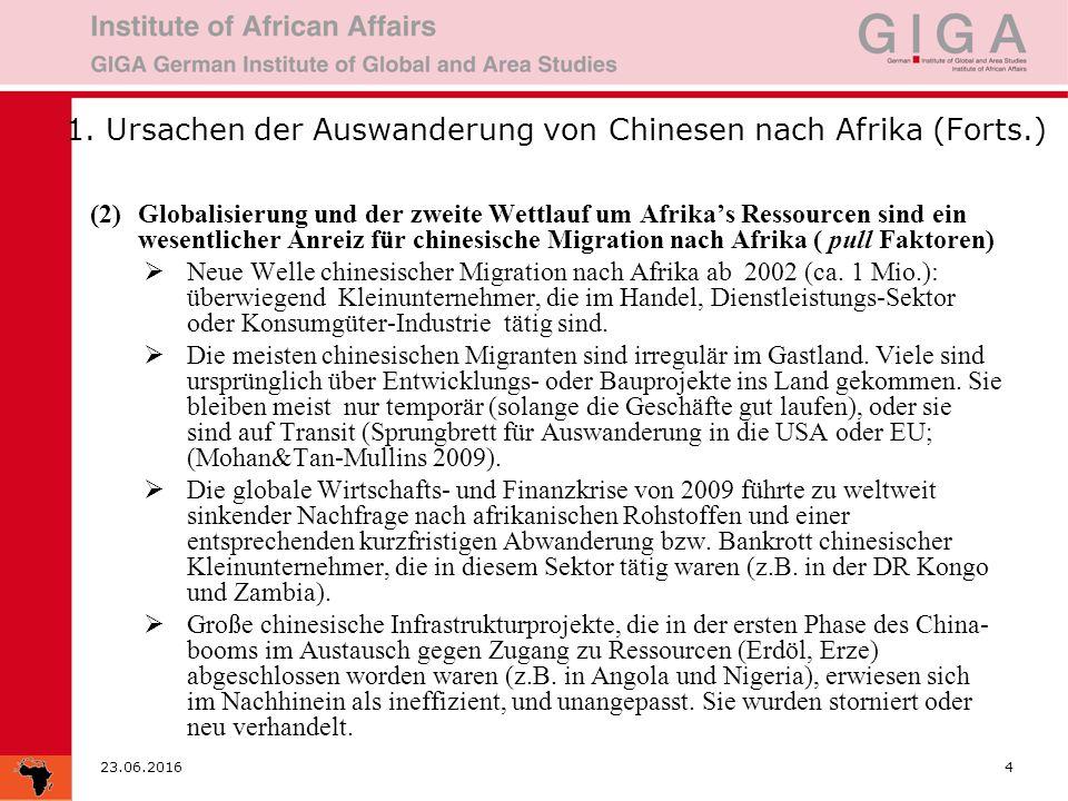 23.06.20165 … Beispiele zunehmender chinesischer Präsenz in Afrika  Rohstoffreiche Regionen: z.B.
