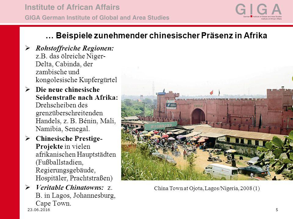 23.06.20166 2.Chinesen in Afrika: Vorreiter des Wandels.