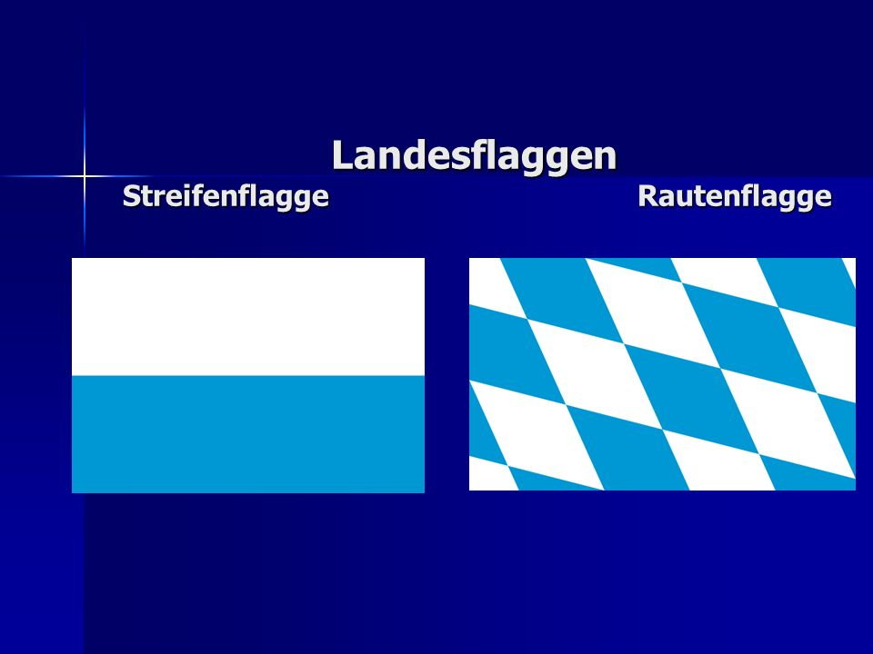 Landesflaggen Streifenflagge Rautenflagge