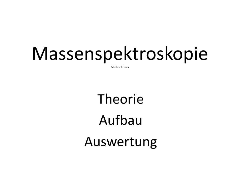 Massenspektroskopie Michael Haas Theorie Aufbau Auswertung
