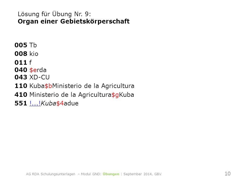005 Tb 008 kio 011 f 040 $erda 043 XD-CU 110 Kuba$bMinisterio de la Agricultura 410 Ministerio de la Agricultura$gKuba 551 !...!Kuba$4adue!....