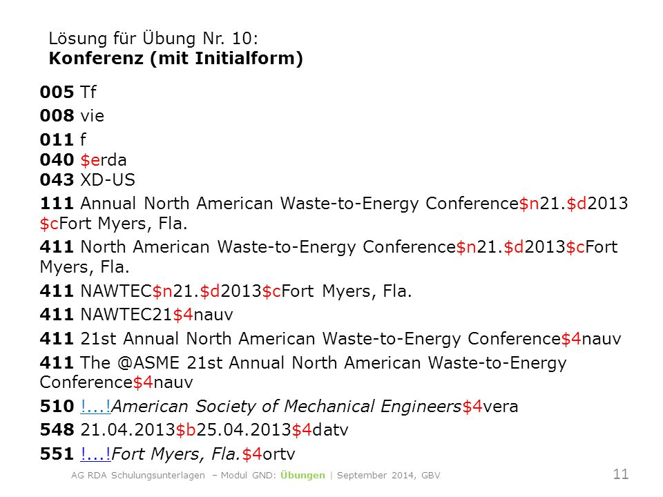 005 Tf 008 vie 011 f 040 $erda 043 XD-US 111 Annual North American Waste-to-Energy Conference$n21.$d2013 $cFort Myers, Fla.