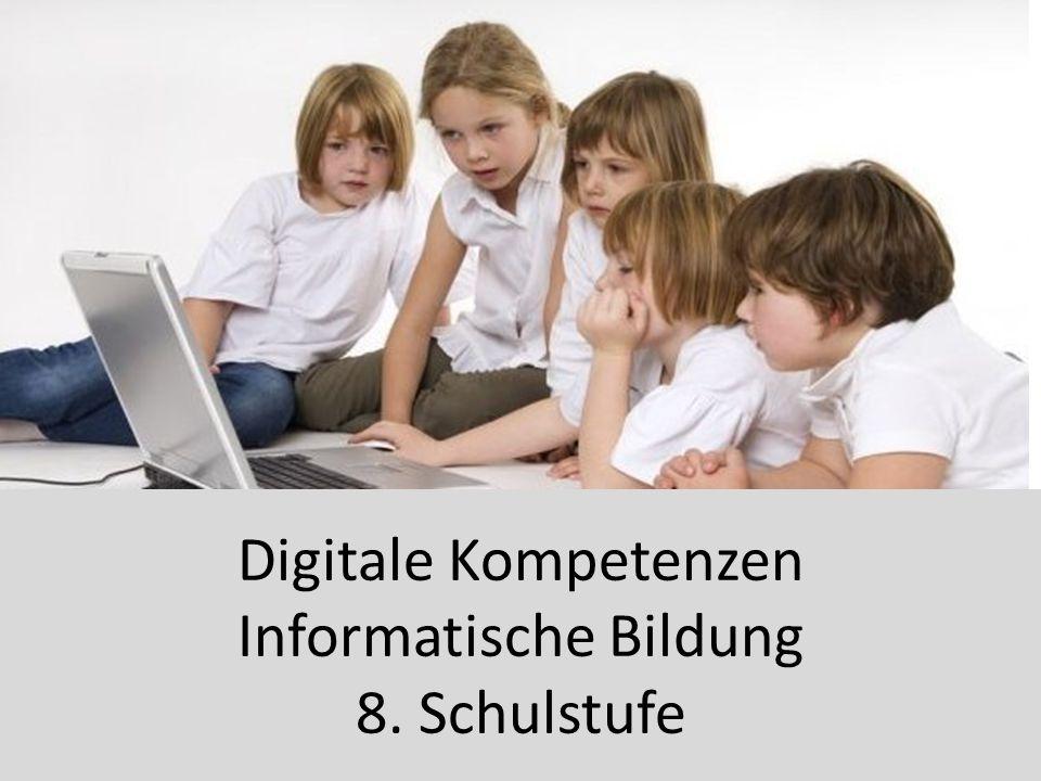 Digitale Kompetenzen Informatische Bildung 8. Schulstufe