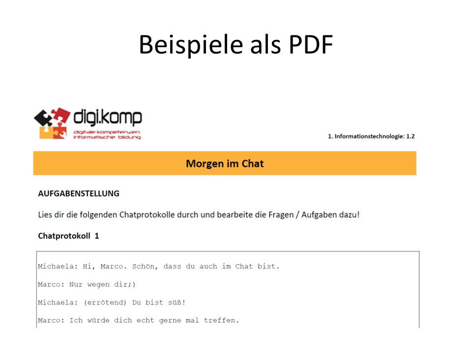 Beispiele als PDF