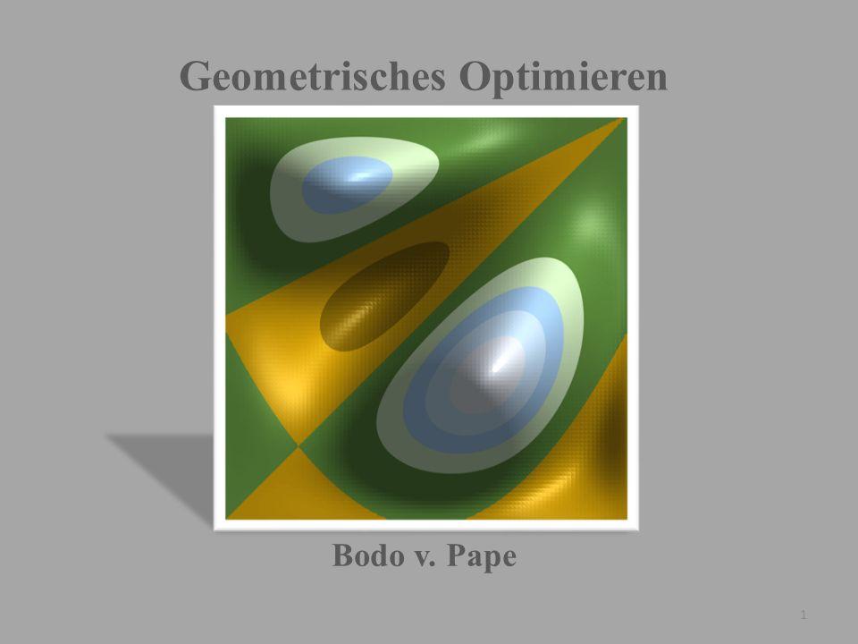 Geometrisches Optimieren Bodo v. Pape 1