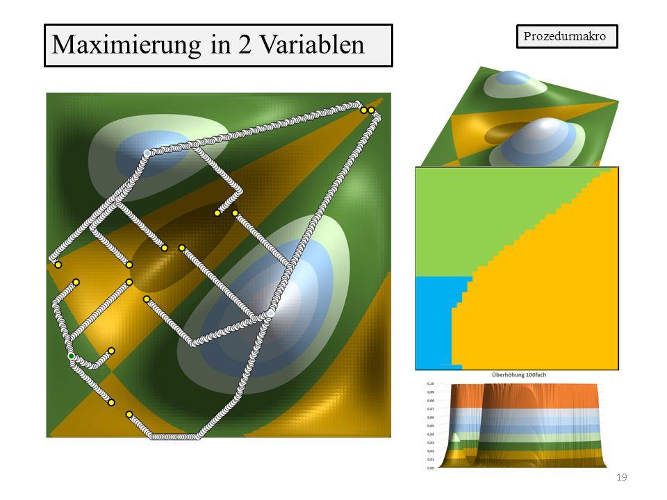 Maximierung in 2 Variablen Prozedurmakro 19