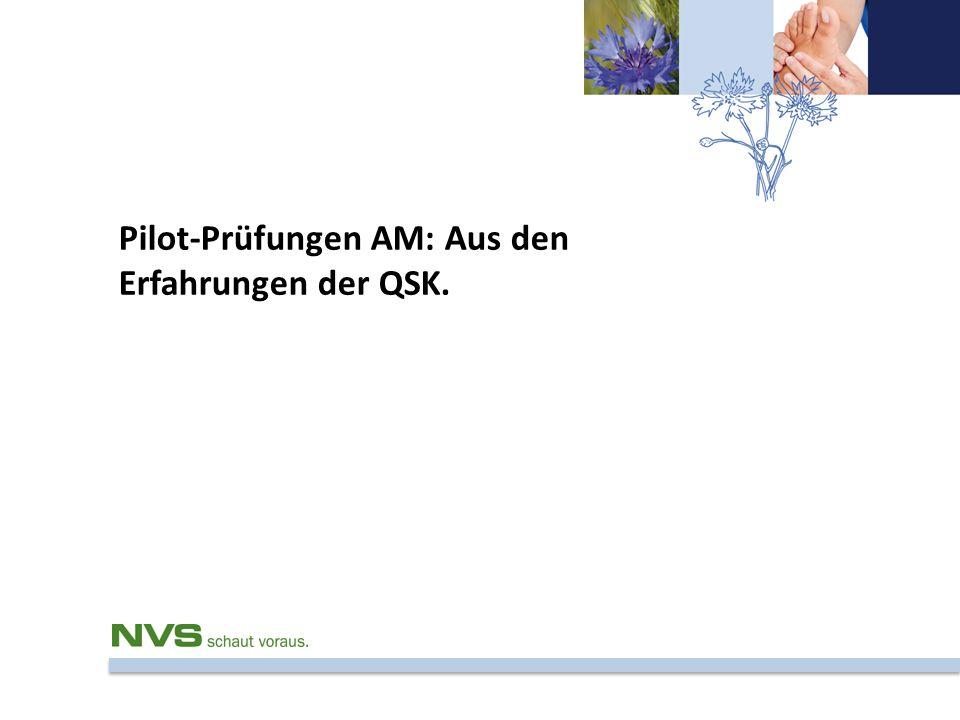 Pilot-Prüfungen AM: Aus den Erfahrungen der QSK.