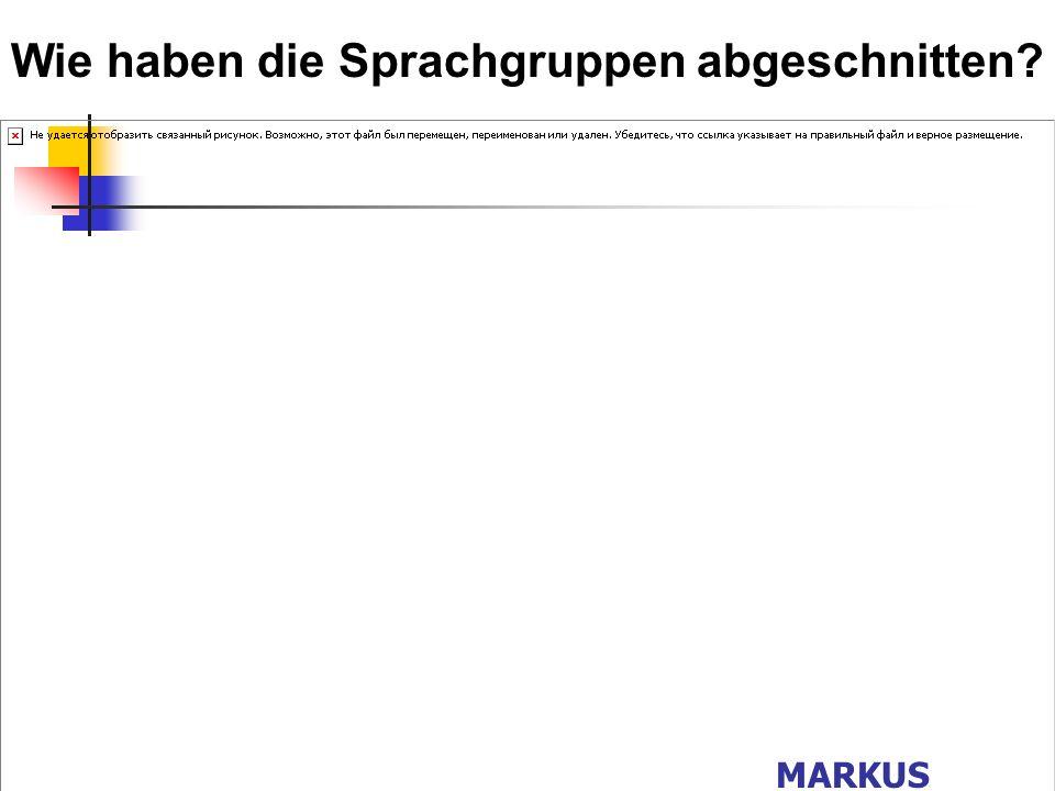 Herkunftssprachen bei Gruppe Deutsch als Zweitsprache ? MARKUS