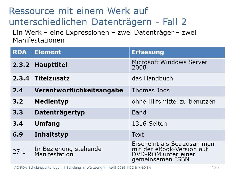 RDAElementErfassung 2.3.2Haupttitel Microsoft Windows Server 2008 2.3.4Titelzusatzdas Handbuch 2.4VerantwortlichkeitsangabeThomas Joos 3.2Medientypohn