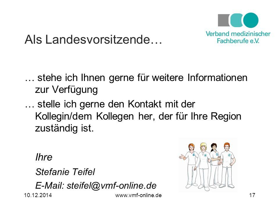 … stehe ich Ihnen gerne für weitere Informationen zur Verfügung … stelle ich gerne den Kontakt mit der Kollegin/dem Kollegen her, der für Ihre Region zuständig ist.