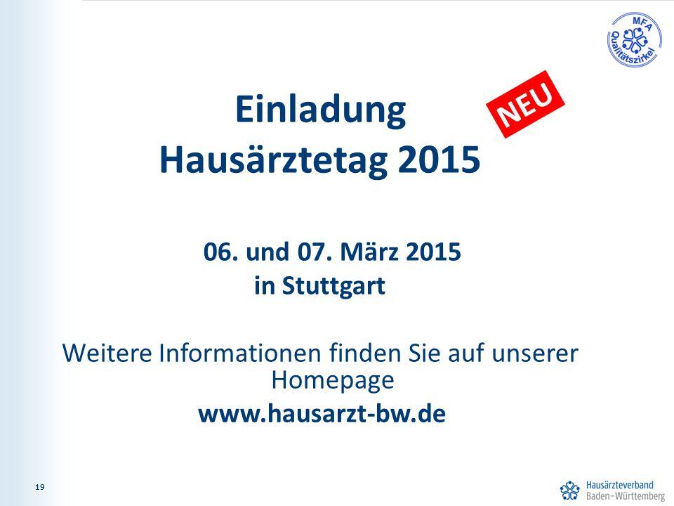 19 Einladung Hausärztetag 2015 06. und 07.