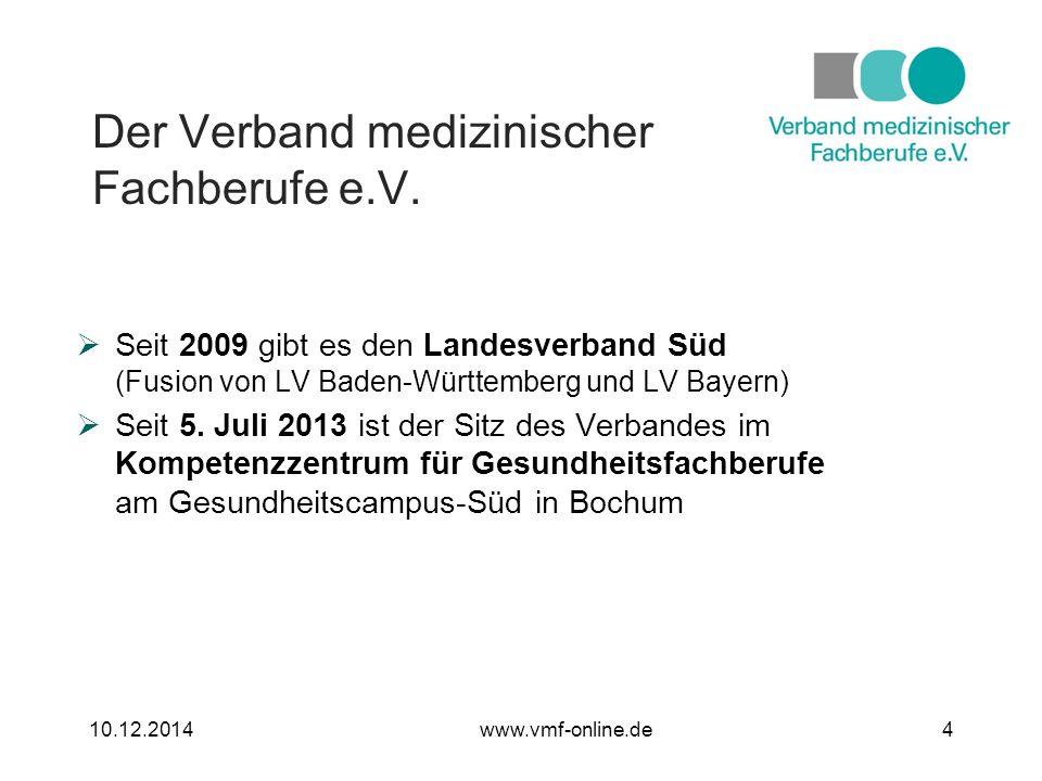 Der Verband medizinischer Fachberufe e.V. Viele Informationen, Termine, etc.
