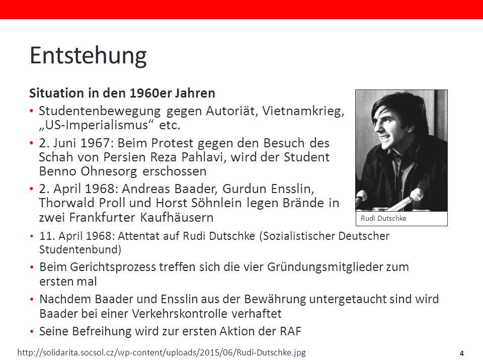 """Entstehung Situation in den 1960er Jahren Studentenbewegung gegen Autoriät, Vietnamkrieg, """"US-Imperialismus etc."""