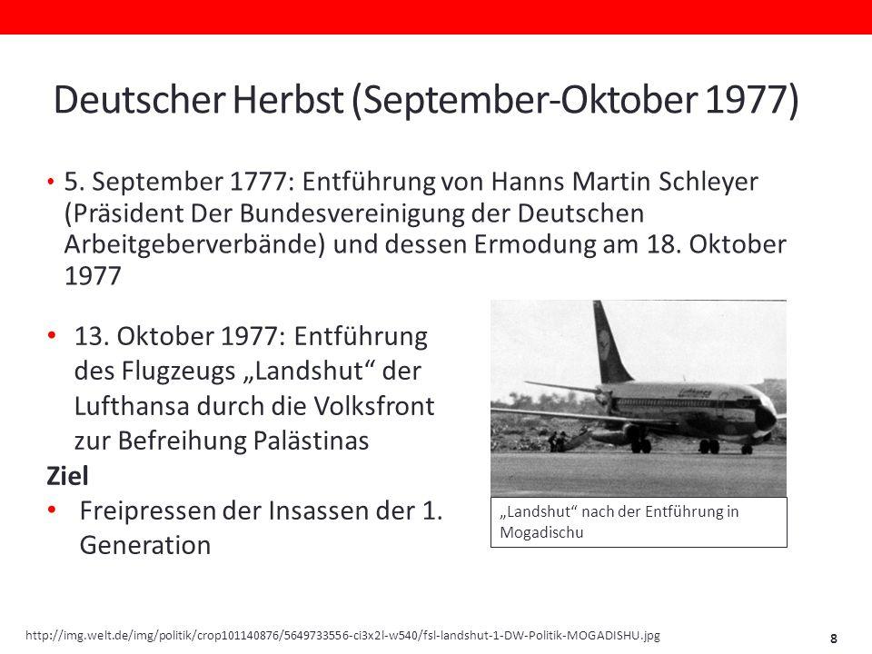 Deutscher Herbst (September-Oktober 1977) 5.