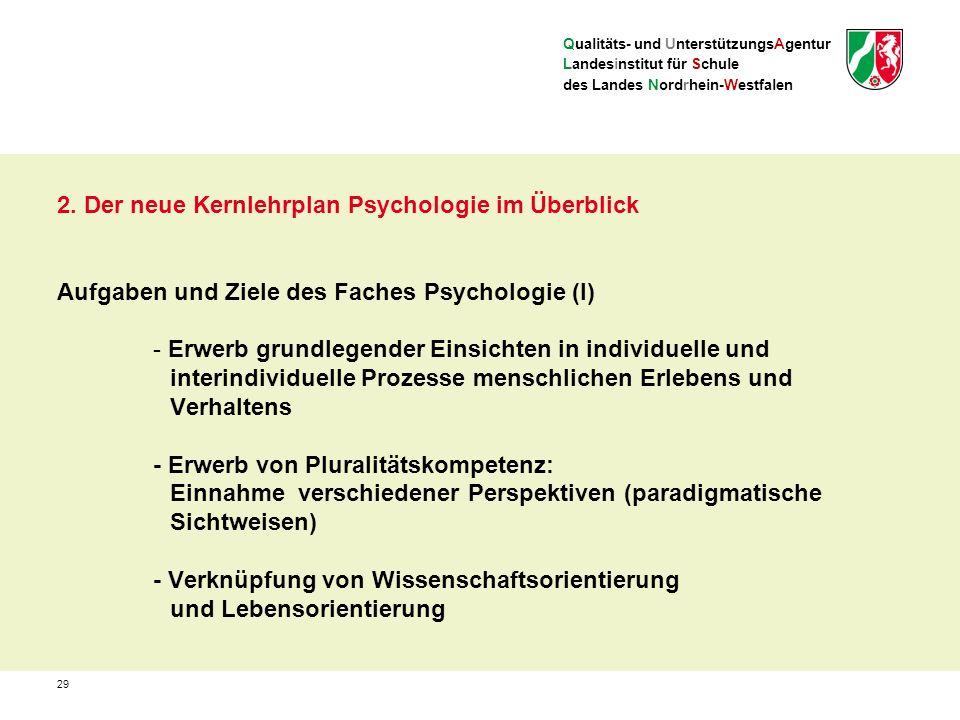 Qualitäts- und UnterstützungsAgentur Landesinstitut für Schule des Landes Nordrhein-Westfalen 2.
