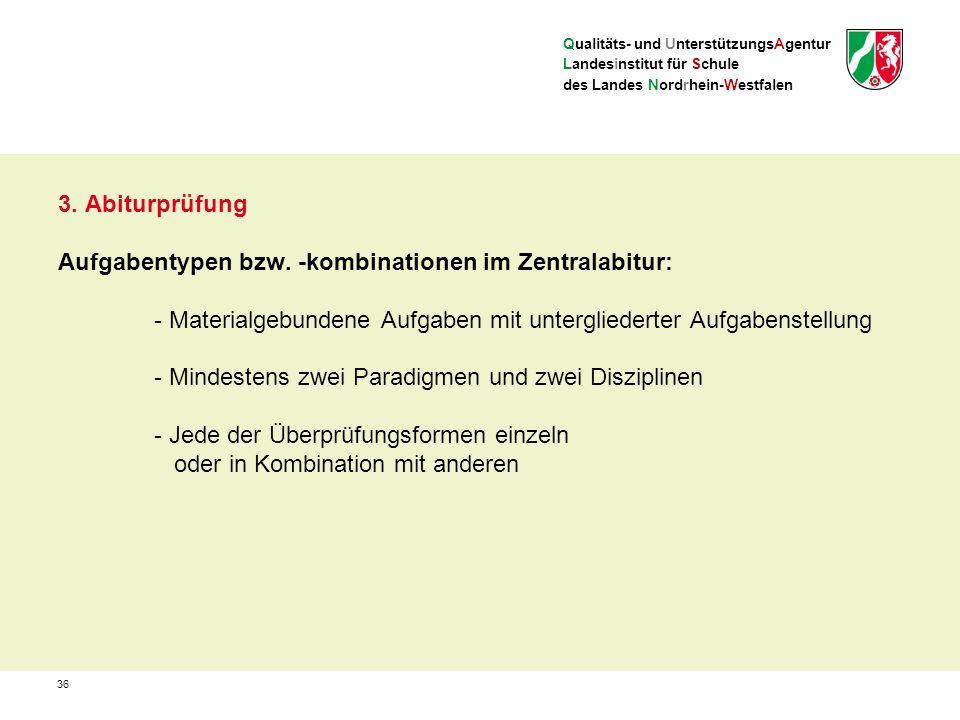Qualitäts- und UnterstützungsAgentur Landesinstitut für Schule des Landes Nordrhein-Westfalen 3.