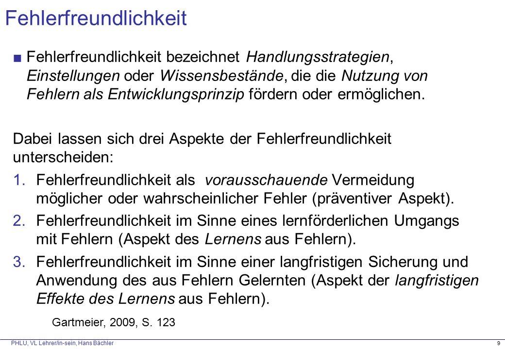 PHLU, VL Lehrer/in-sein, Hans Bächler 4) Einkapselung Reduktion der Komplexität durch Einkapselung auf ein lösbares Teilproblem;