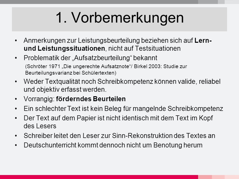 2.Textqualität messen nach Nussbaumer/Baurmann Sprachliche Richtigkeit 1.