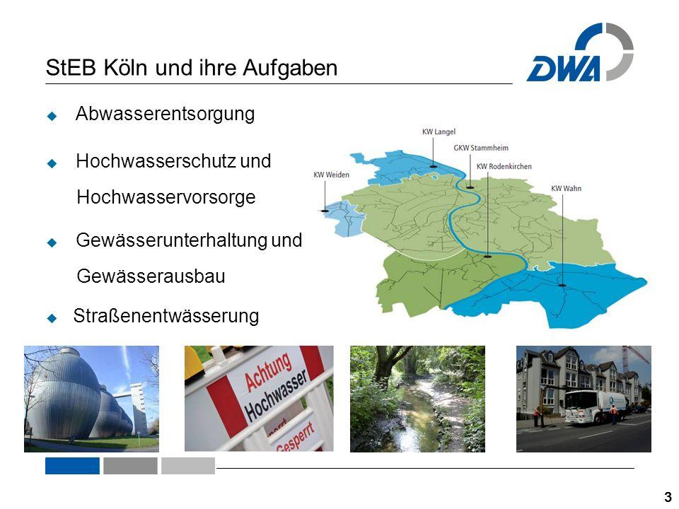 Die Abwasserableitung und -entsorgung 4  für ca.1 Million Einwohner auf 405 km² Stadtgebiet  ca.