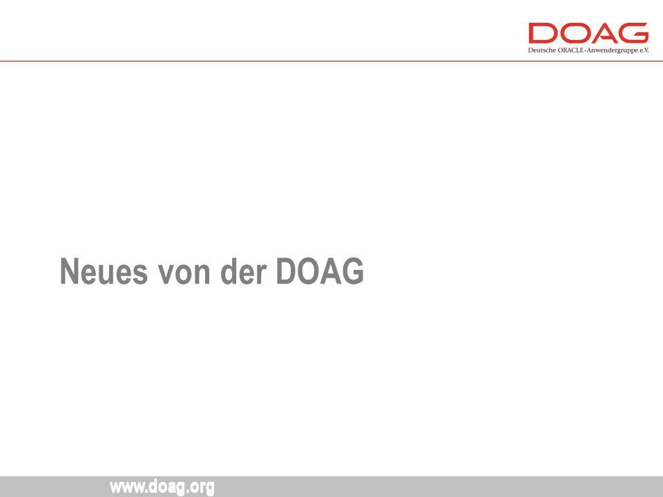 www.doag.org Neues von der DOAG