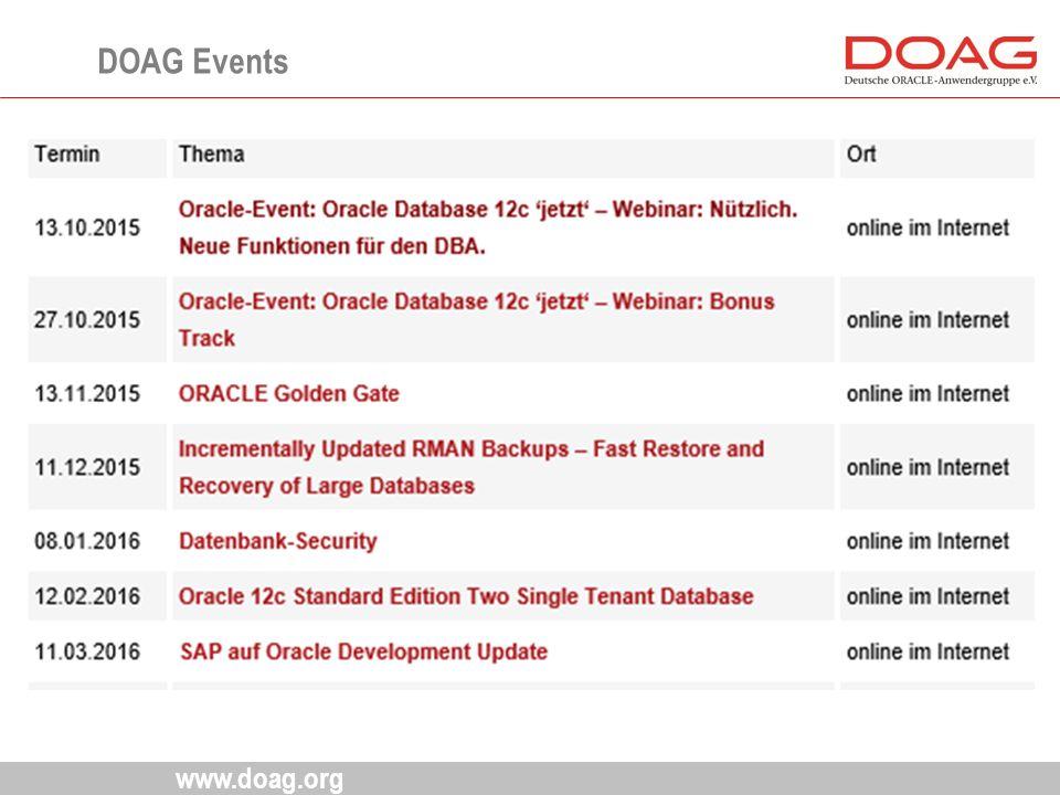 www.doag.org DOAG Events