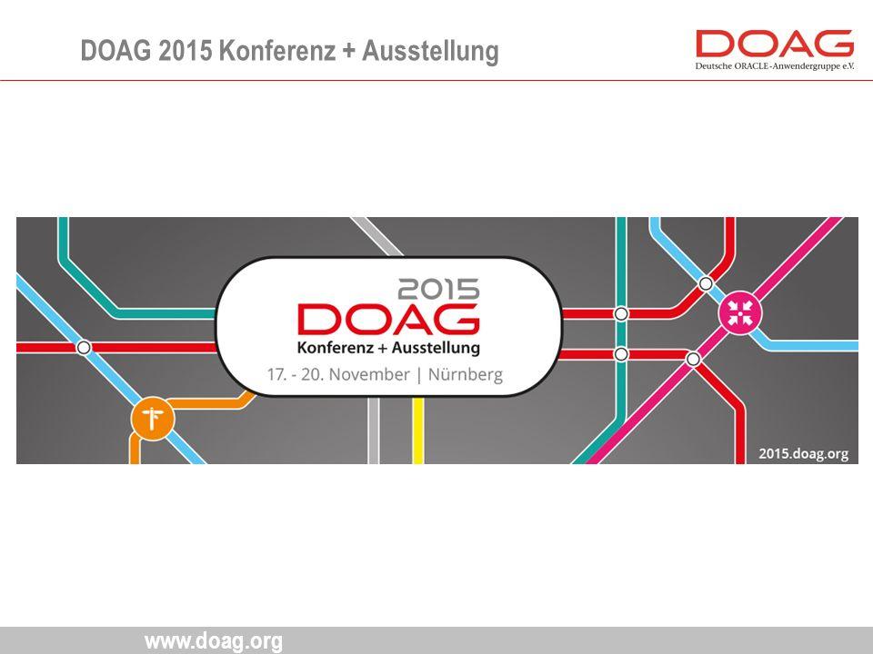 www.doag.org DOAG 2015 Konferenz + Ausstellung