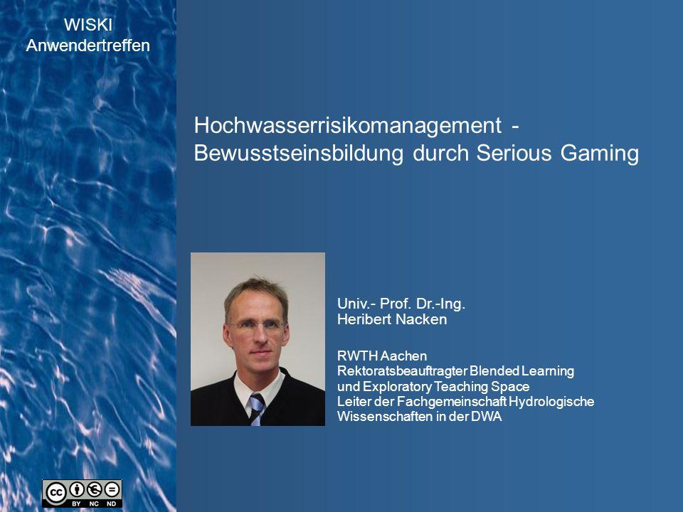 WISKI Anwendertreffen Quelle:EG-Hochwasserrisikomanagement Richtlinie Hochwasserrisiko...