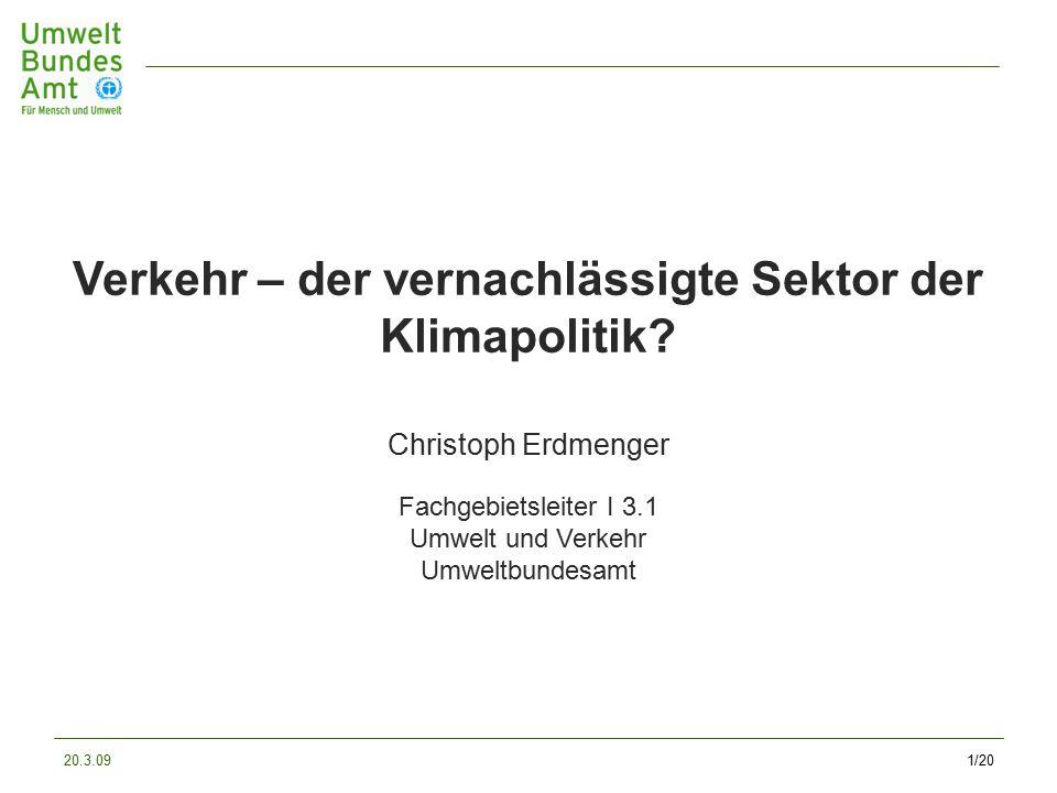 20.3.091/20 Verkehr – der vernachlässigte Sektor der Klimapolitik.