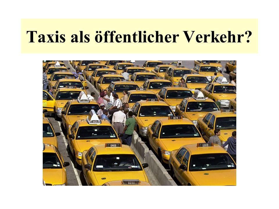 Taxis als öffentlicher Verkehr