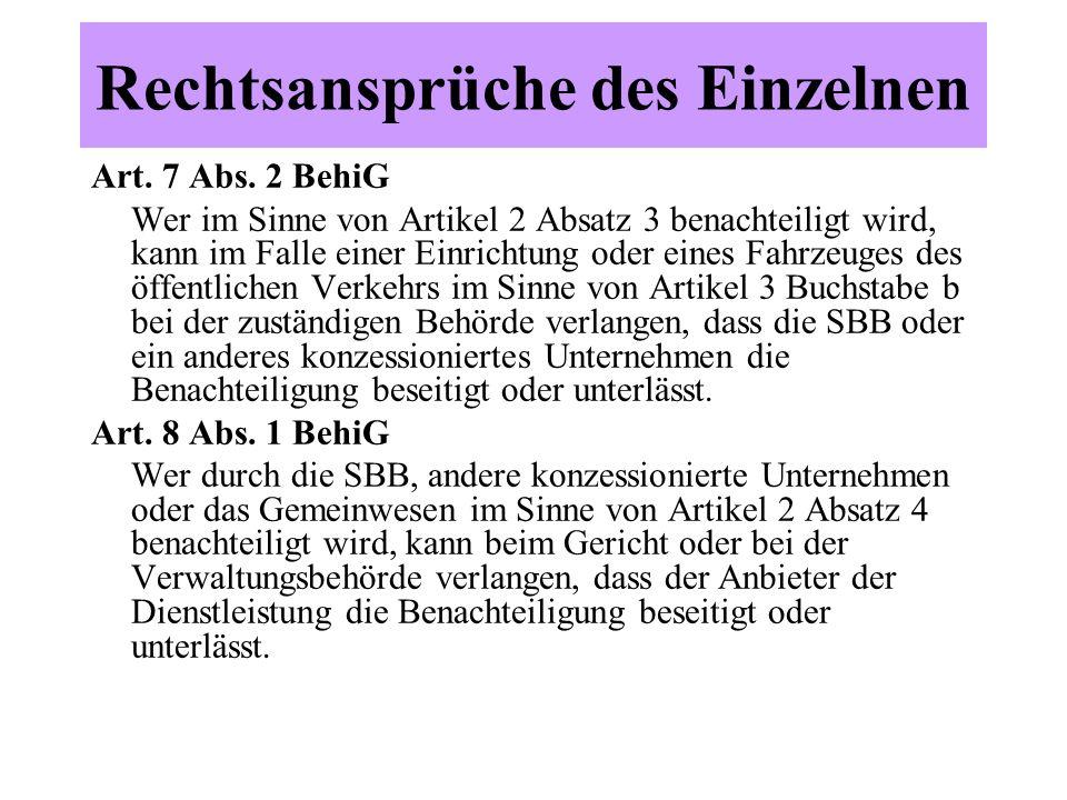 Rechtsansprüche des Einzelnen Art. 7 Abs.