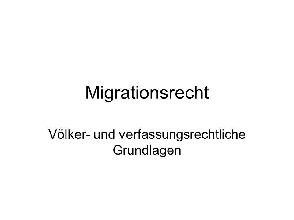 Grundsätze des Völkerrechts keine abgeschlossene völkerrechtliche Ordnung Grundbestand von individuellen Rechten und Pflichten weitgehende Souveränität der Staaten kein Recht auf Migration