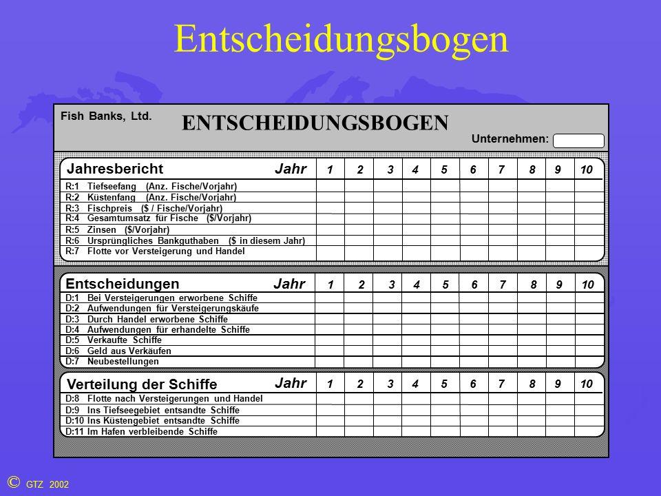 © GTZ 2002 Entscheidungsbogen R:1 Tiefseefang (Anz.